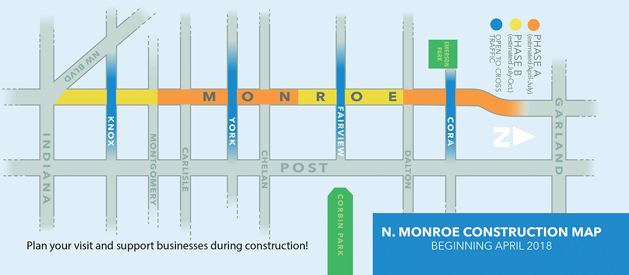 Monroe Street Map of Construction Phasing